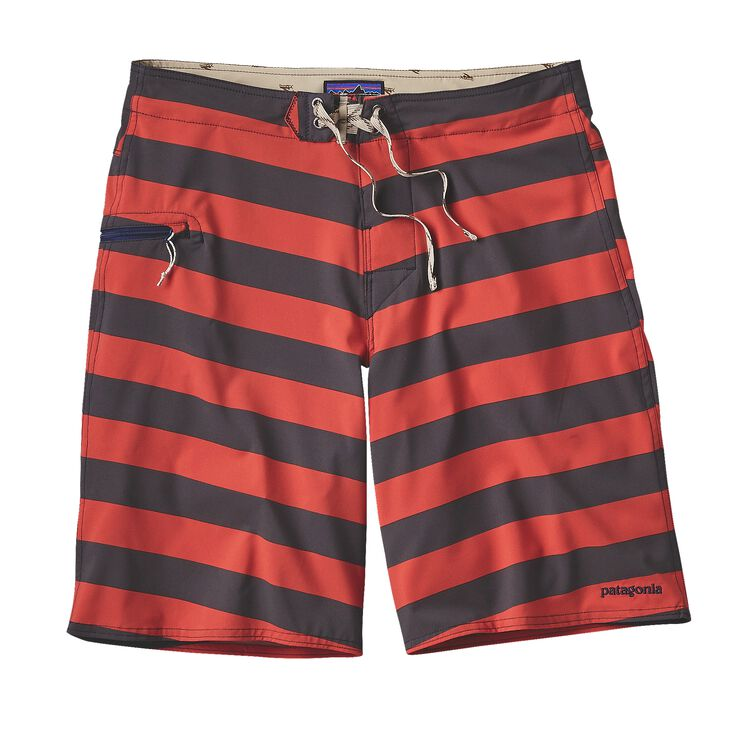 M'S PRINTED STRETCH PLANING BOARD SHORTS, Da Bull: Ramble Red (DBRR)
