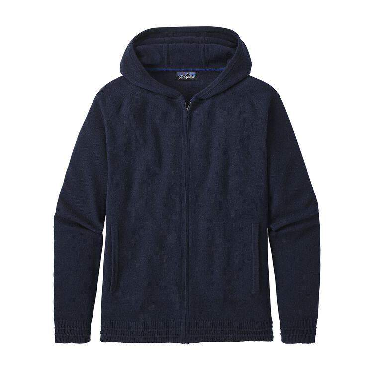 M'S RECYCLED CASHMERE HOODY SWEATER, Navy Blue (NVYB)