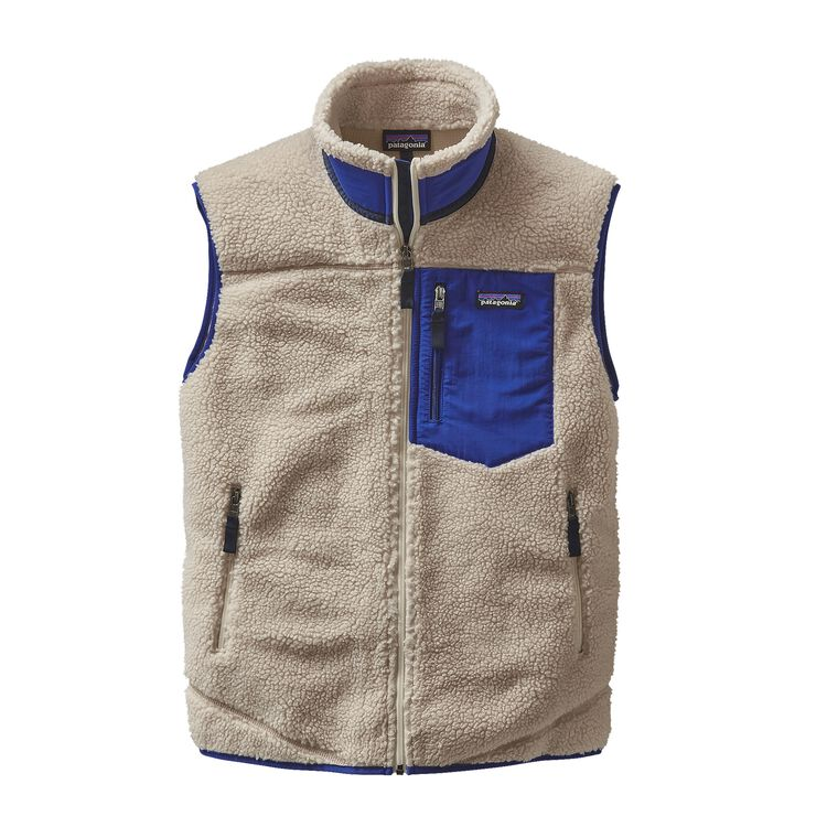 M'S CLASSIC RETRO-X VEST, Natural w/Harvest Moon Blue (NAHM)