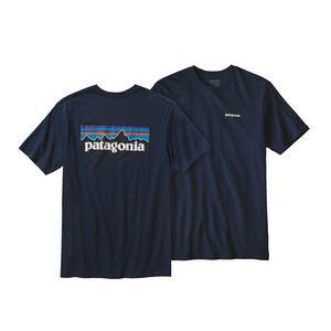 メンズ・P-6ロゴ・コットン・Tシャツ, Navy Blue (NVYB)
