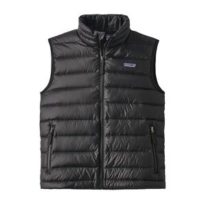 BOYS' DOWN SWEATER VEST, Black (BLK)
