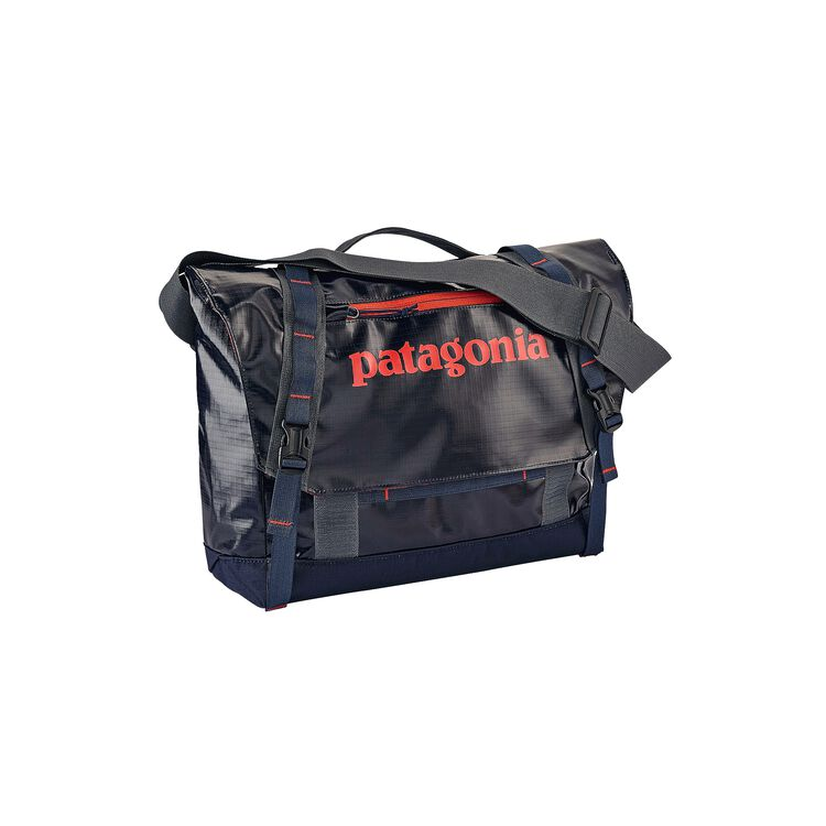 BLACK HOLE MINI MESSENGER 12L, Navy Blue w/Paintbrush Red (NPTR)