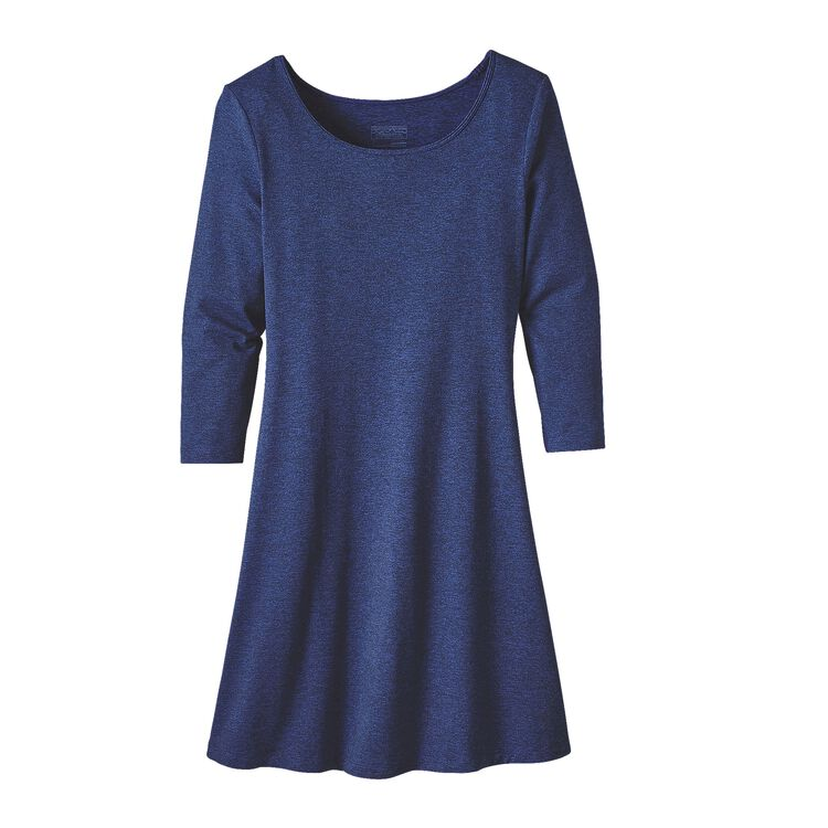 W'S 3/4 SLEEVE SEABROOK DRESS, Harvest Moon Blue (HMB)