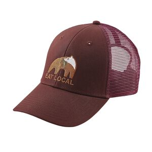 Eat Local Upstream LoPro Trucker Hat, Dark Ruby (DAK)
