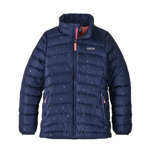 Girls' Down Sweater Jacket, Mica Pop: Classic Navy (MICN)