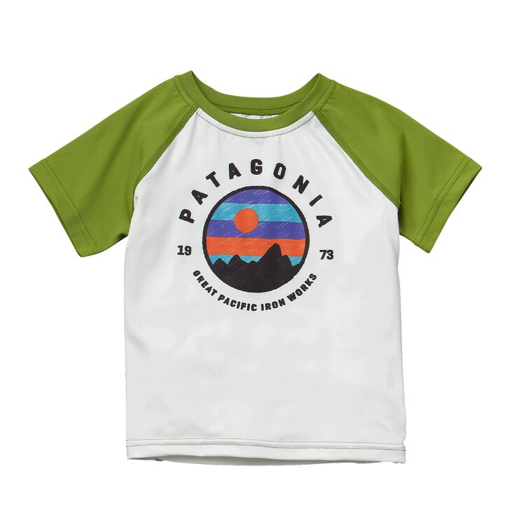 BABY CAP DAILY T-SHIRT, White w/Supply Green (WTSY)
