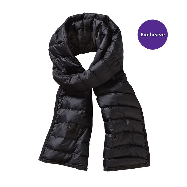 W'S RECLAIMED DOWN SCARF, Black (BLK)