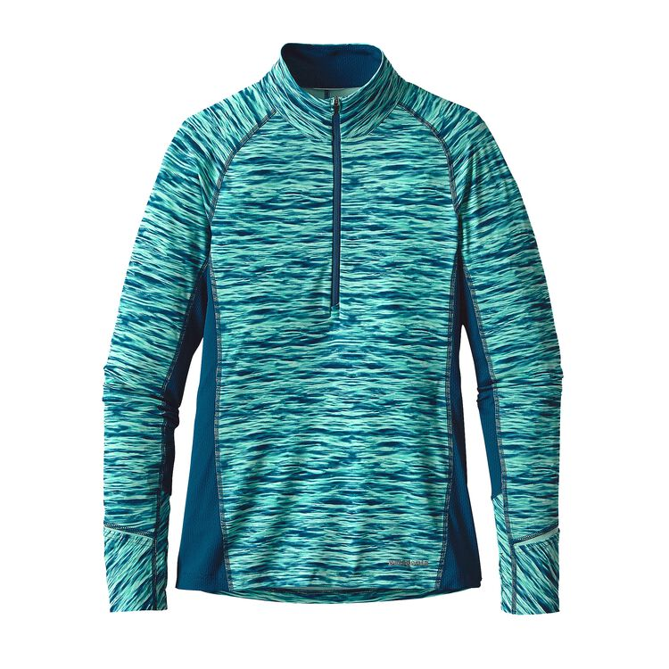 W'S ALL WEATHER ZIP NECK, Open Oceans: Big Sur Blue (OCBS)