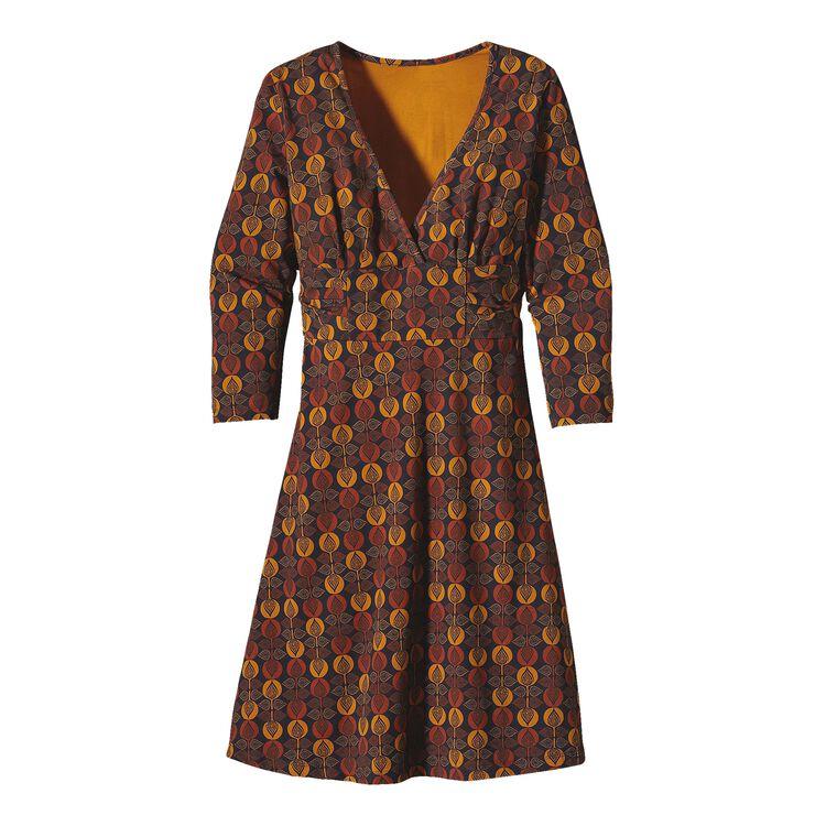 ウィメンズ・3/4スリーブ・マーゴ・ドレス, Bijou Dot: Bengal Gold (BJBG)