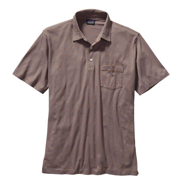 M'S SQUEAKY CLEAN POLO, Fathom: Oaks Brown (FMOB)