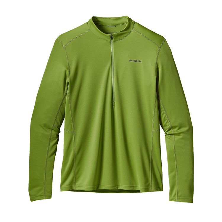M'S L/S FORE RUNNER ZIP NECK, Supply Green (SPYG)