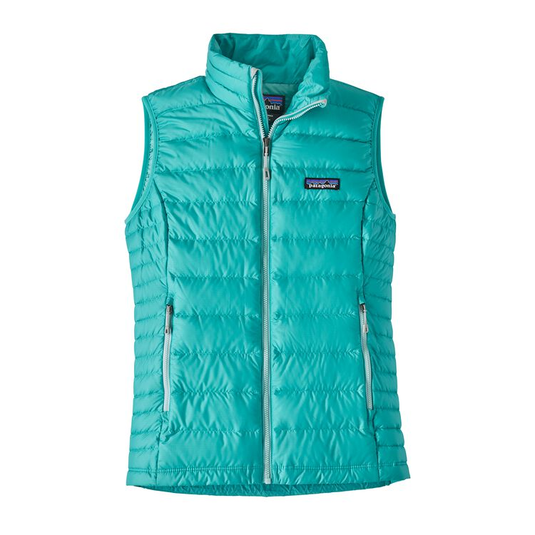 W'S DOWN SWEATER VEST, Strait Blue (STRB)
