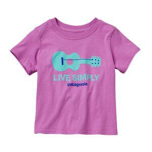 ベビー・リブ・シンプリー・ギター・Tシャツ, Mock Purple (MCKP)