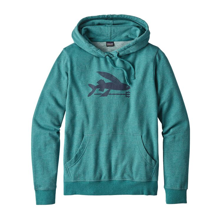 W'S FLYING FISH LW HOODY, Elwha Blue (ELWB)