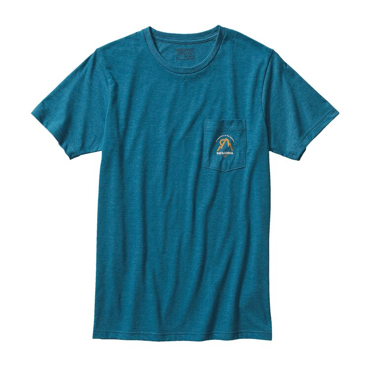 M'S MOONSET COTTON/POLY POCKET T-SHIRT, Underwater Blue (UWTB)