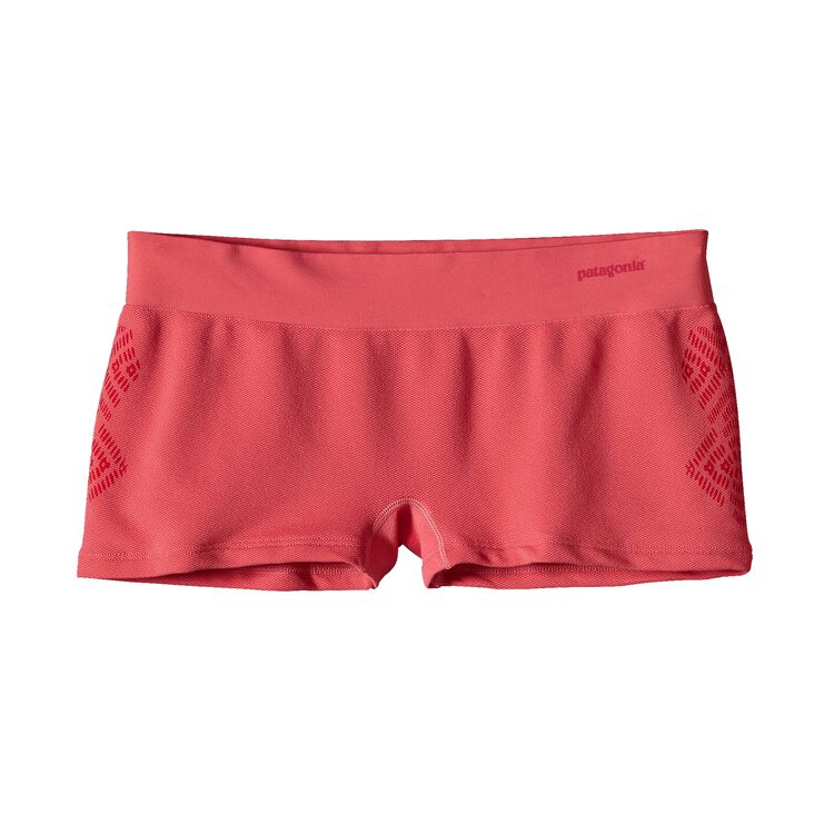 W'S ACTIVE MESH BOY SHORTS, Diamante Graphic: Ginger Berry (DGBY)