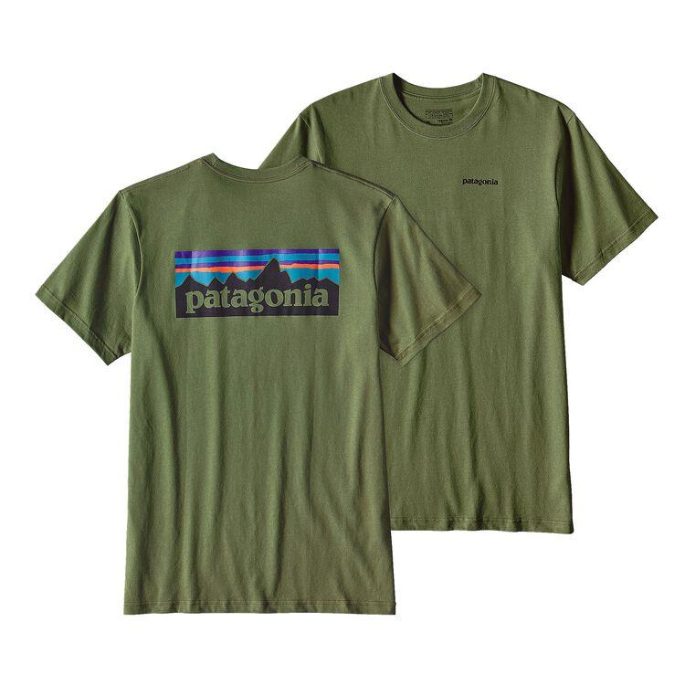 メンズ・P-6ロゴ・コットン・Tシャツ, Buffalo Green (BUFG)