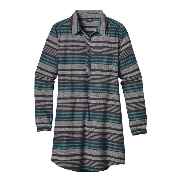 W'S HEYWOOD FLANNEL DRESS, Pinyon Stripe: Black (PSBK)