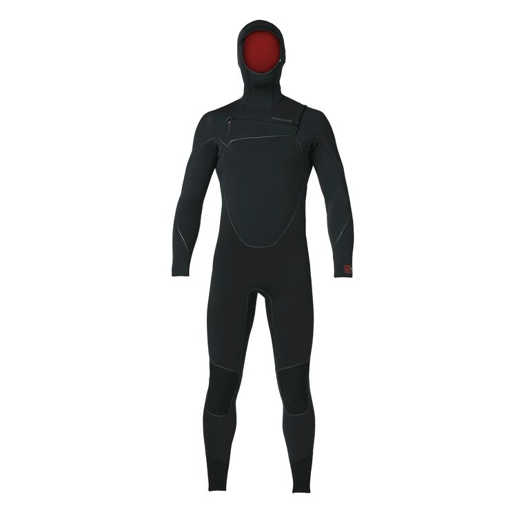 M'S R4 YULEX FZ HOODED FULL SUIT, Black (BLK)