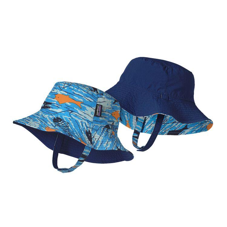 BABY SUN BUCKET HAT, Fishy Fun: Electron Blue (FYEB)