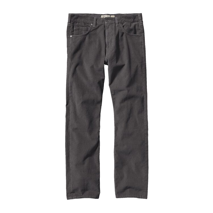 M'S STRAIGHT FIT CORDS - SHORT, Forge Grey (FGE)