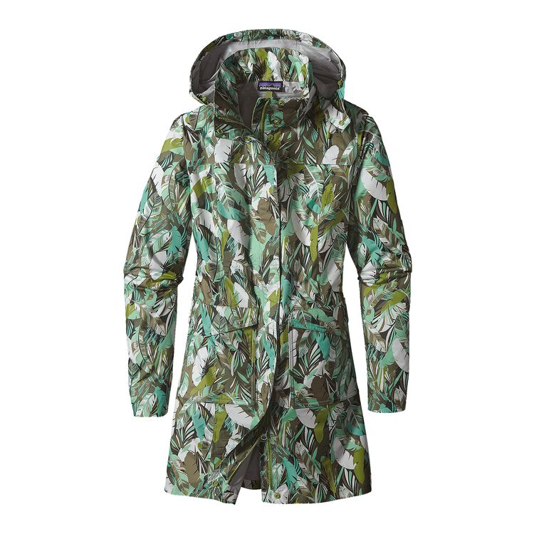 W'S TORRENTSHELL CITY COAT, Wild Paradise Petite: Distilled Green (WPDG)