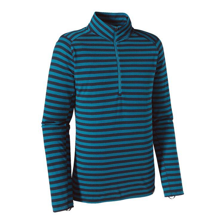 M'S MERINO TW ZIP NECK, Pearson Stripe: Navy Blue/Underwater Blue (PSNU)