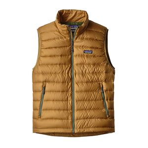 M's Down Sweater Vest, Oaks Brown w/Buffalo Green (OBLG)