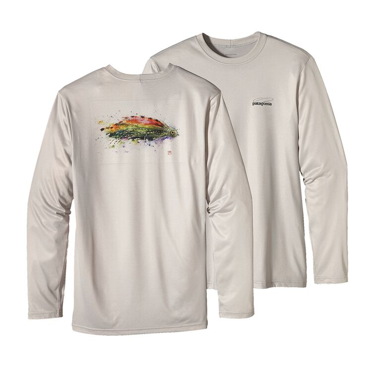 M'S GRAPHIC TECH FISH TEE, Fly: Tailored Grey (FTYR)