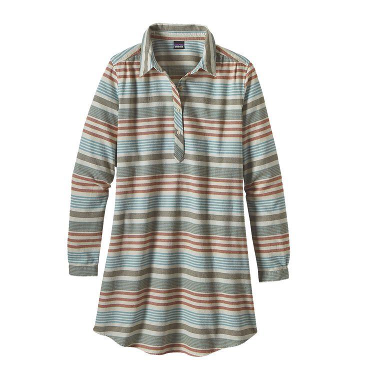 W'S HEYWOOD FLANNEL DRESS, Pinyon Stripe: Toasted White (PSTW)