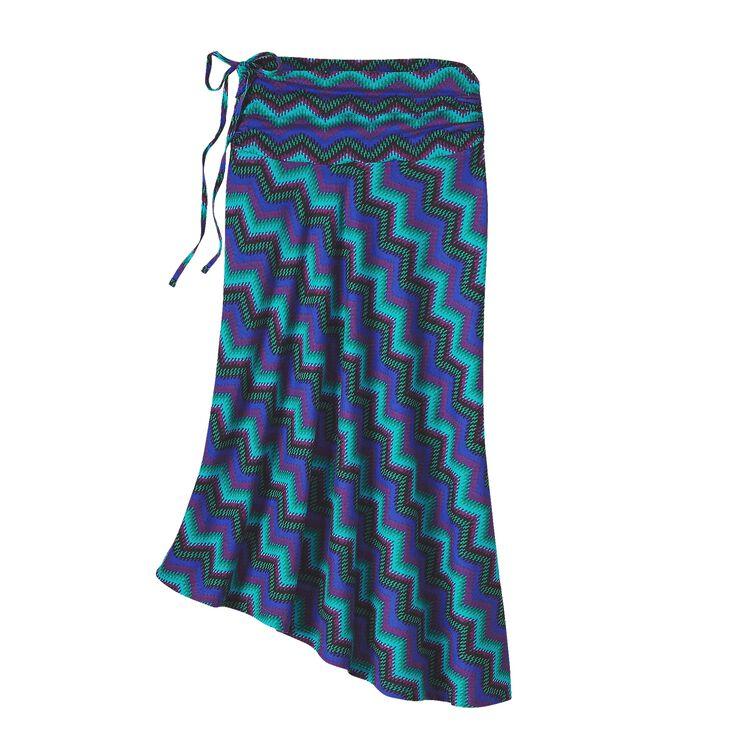 W'S KAMALA SKIRT, Timber Stripe: Harvest Moon Blue (TSHV)