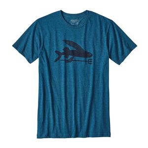 M'S FLYING FISH COTTON/POLY T-SHIRT, Big Sur Blue (BSRB)