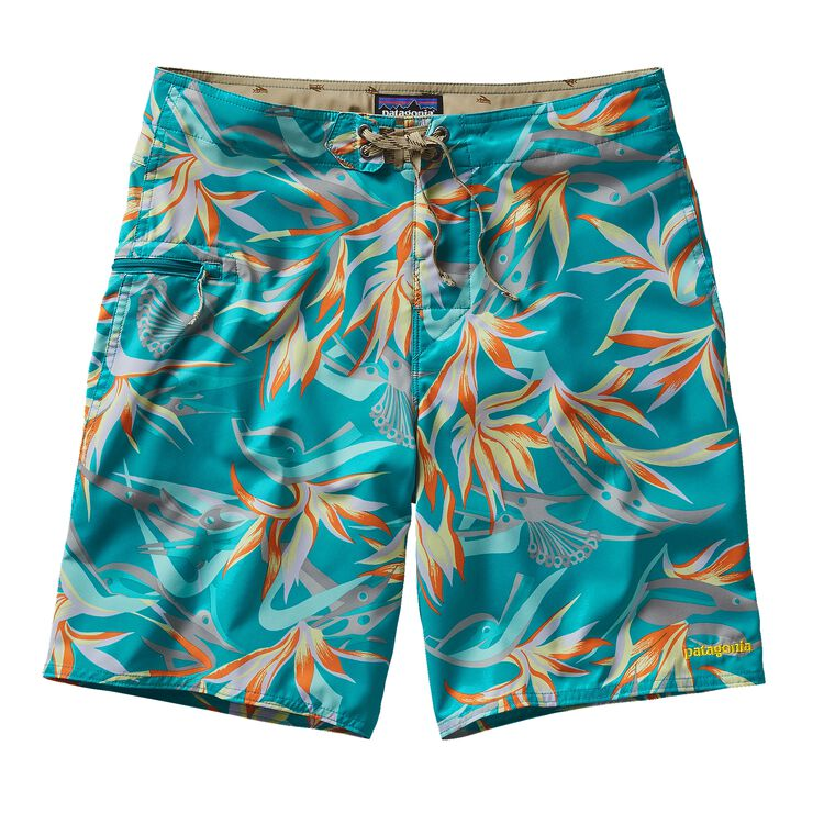 M'S PRINTED STRETCH PLANING BOARD SHORTS, Piton Paradise: Epic Blue (PTEB)