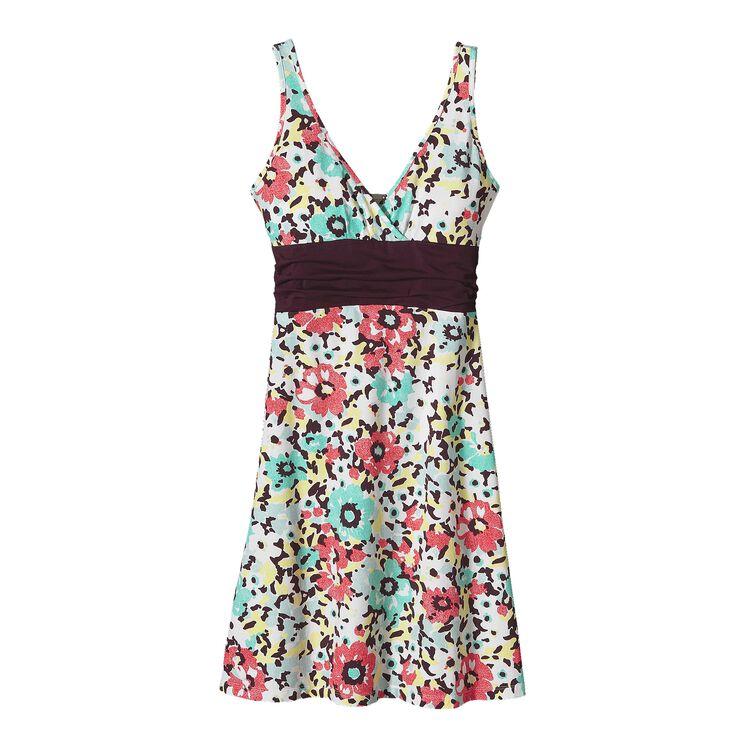 W'S MARGOT DRESS, Big Poppy: Whiskey Plum (BPWP-350)