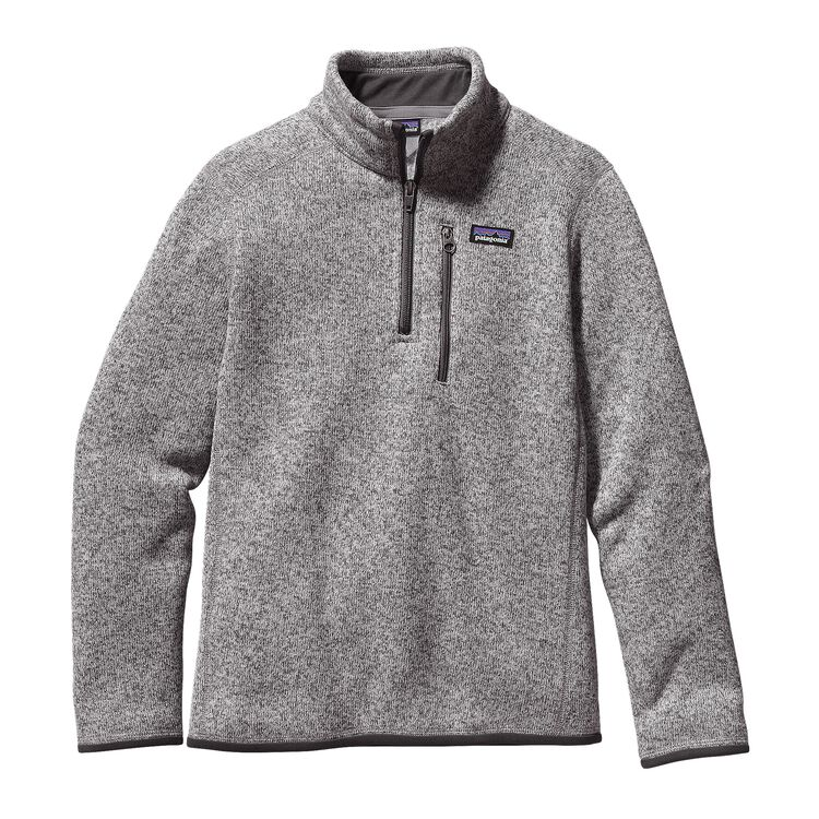 BOYS' BETTER SWEATER 1/4 ZIP, Stonewash (STH)