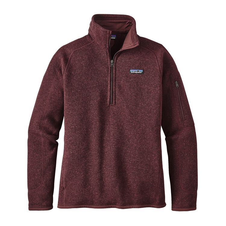 W'S BETTER SWEATER 1/4 ZIP, Dark Ruby (DAK)