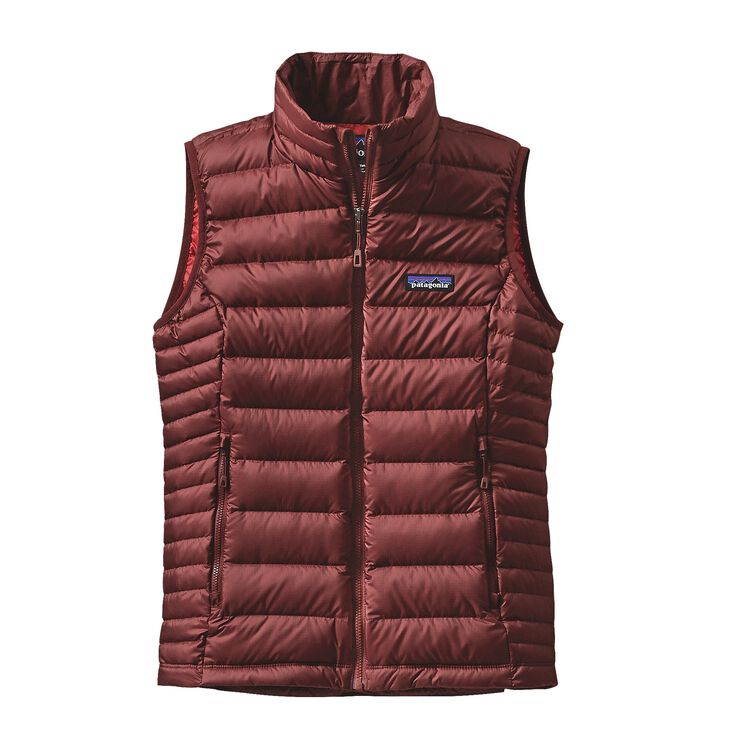 W'S DOWN SWEATER VEST, Drumfire Red (DRMF)