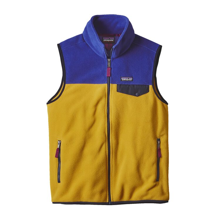 M'S LW SYNCH SNAP-T VEST, Sulphur Yellow (SULY)