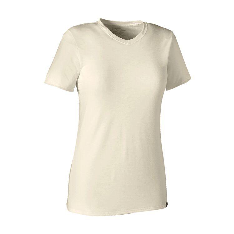 W'S MERINO DAILY V-NECK T-SHIRT, Birch White (BCW)
