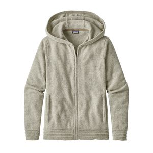 W's Recycled Cashmere Hoody, Birch White (BCW)