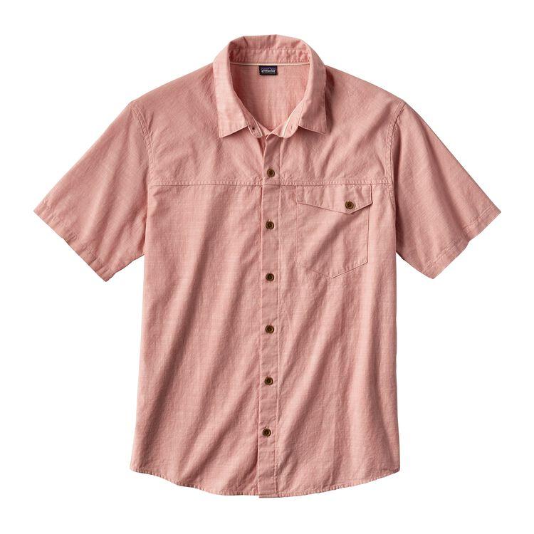 メンズ・クリーン・カラー・ショートスリーブ・シャツ, Clean Carmine Pink (CRMP)