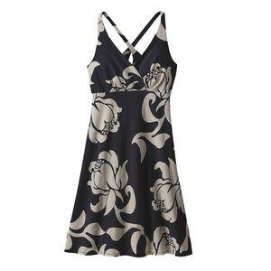 W'S AMBER DAWN DRESS, Exotic Floral: Ink Black (EXIB)