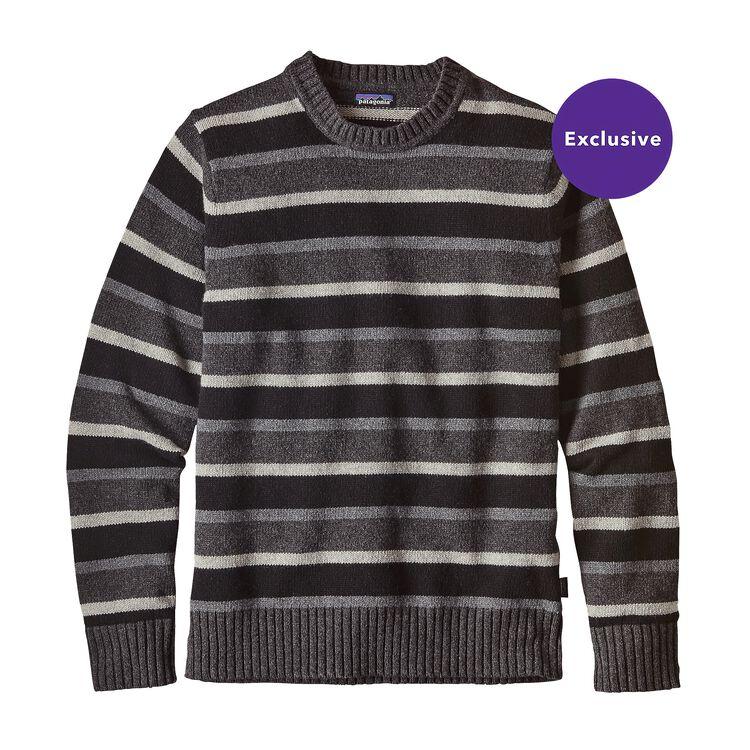 メンズ・マーロウウール・クルーネック・セーター, Scaler Stripe: Black (SSBK)