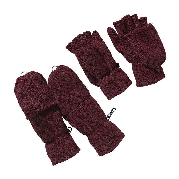 W'S BETTER SWEATER GLOVES, Oxblood Red (OXRD)