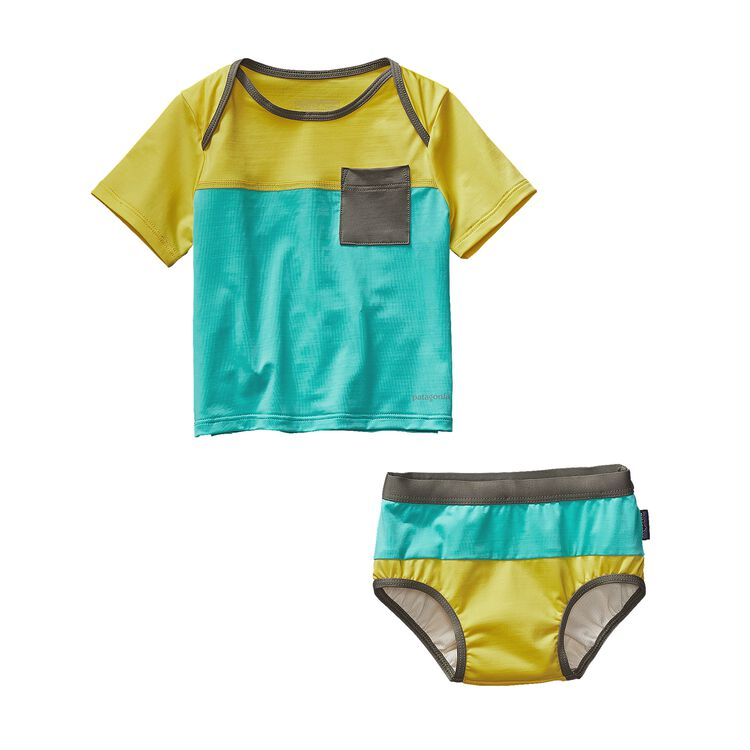 INFANT LITTLE SOL SWIM SET, Howling Turquoise (HWLT)