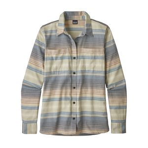W's Long-Sleeved Catbells Shirt, Blanket Stripe: Dolomite Blue (BLAD)