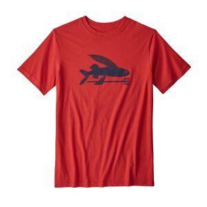 Boys' Flying Fish Organic T-Shirt, Fire (FRE)