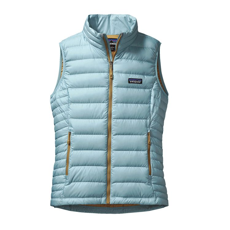 W'S DOWN SWEATER VEST, Tubular Blue (TUBL)