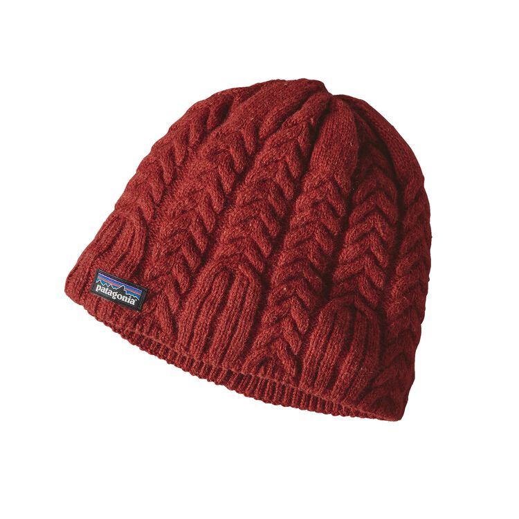 W'S CABLE BEANIE, Cinder Red (CDRR)