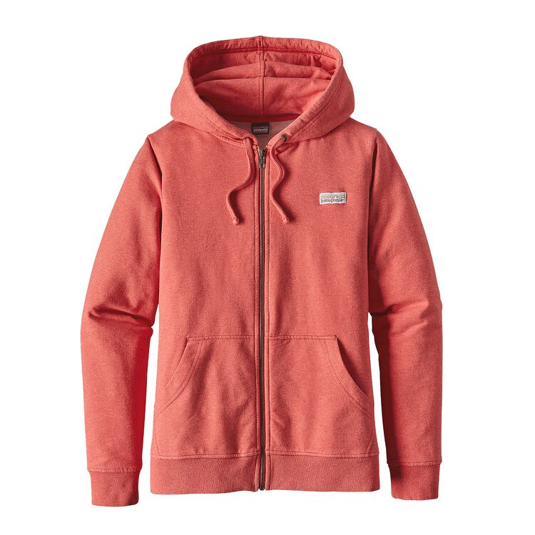 W'S PASTEL P-6 LABEL MW FULL-ZIP HOODY, Spiced Coral (SPCL)